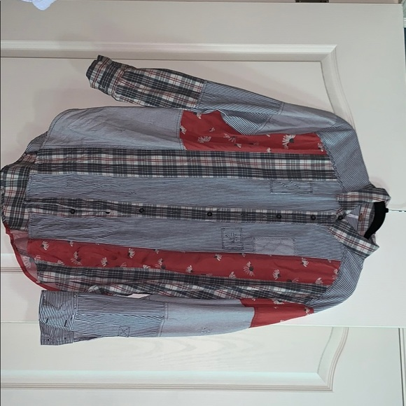 Free People Tops - free people mixed print button down